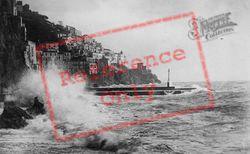 Harbour, Crashing Waves c.1920, Amalfi