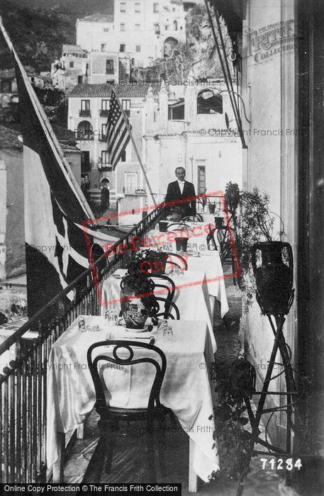 Photo of Amalfi, Hotel Marina Riviera, Terrace c.1920