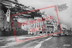 View From Beach c.1920, Amalfi