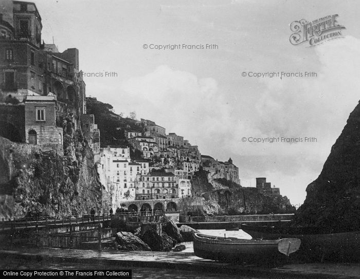 Photo of Amalfi, View From Via Lungomare Dei Cavalieri c.1920
