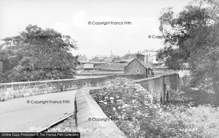 Photo of Ambergate, Halfpenny Bridge c.1955