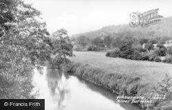 Ambergate, River Derwent c.1955