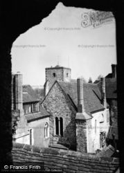 Amberley, Castle And Church 1949