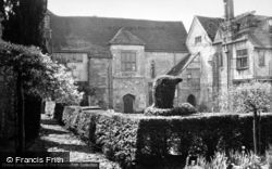 Amberley, Castle, House And Topiary 1949