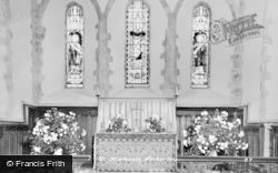 Amberley, St Michael's Church, Altar c.1955