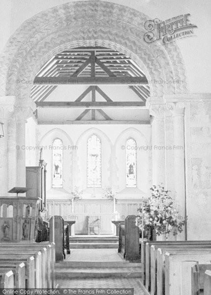 Photo of Amberley, St Michael's Church Interior c.1935