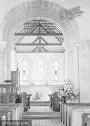 Amberley, St Michael's Church Interior c.1935