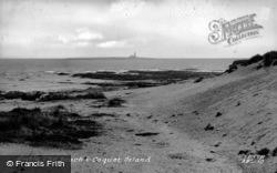 The Beach And Coquet Island c.1950, Amble