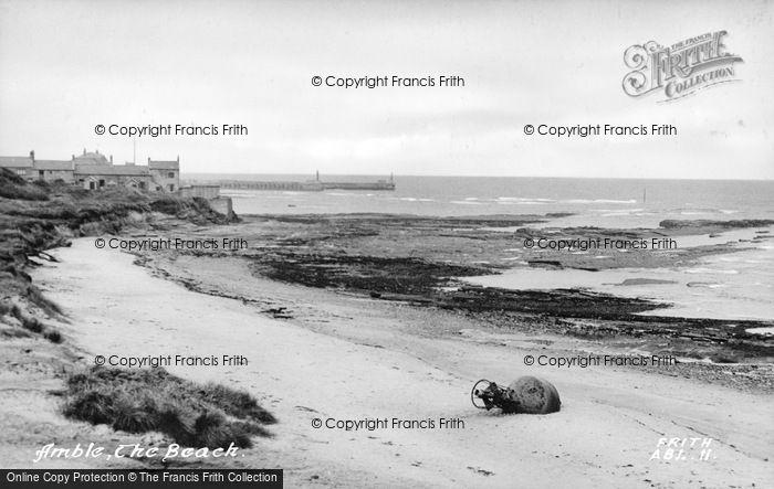Photo of Amble, The Beach c.1950