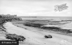 Amble, The Beach c.1950