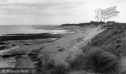 Amble, The Caravan Beach c.1955