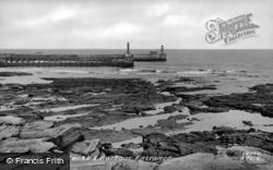 The Rocks And Harbour Entrance c.1950, Amble