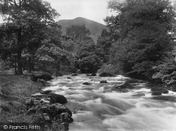 Ambleside, River Rothay Near Stepping Stones 1929