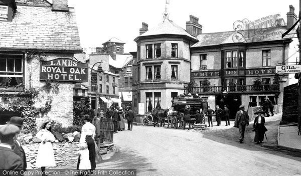 Photo of Ambleside, The White Lion And Royal Oak Hotels 1912