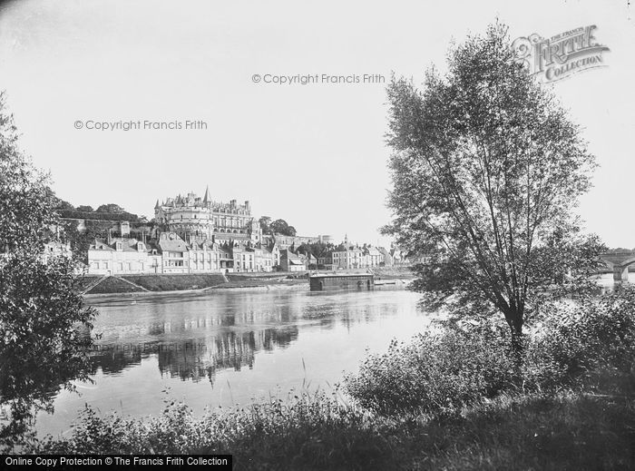 Photo of Amboise, Chateau D'Amboise And The River Loire c.1935