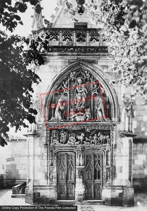 Photo of Amboise, Chateau D'Amboise, St Hubert's Chapel Door c.1935