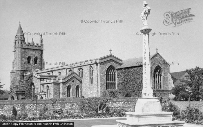 Amersham, War Memorial And St Mary's Church c.1955