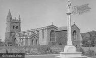 Amersham, War Memorial And St Mary's Church c.1955