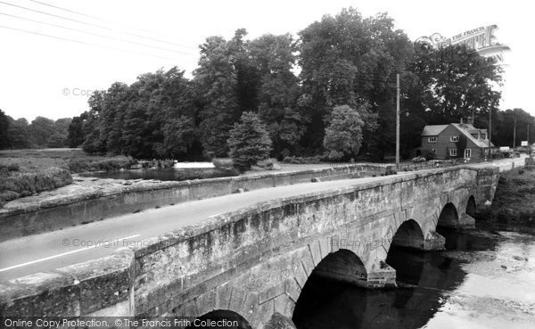Amesbury, The Queensbury Bridge c.1955