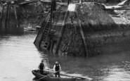 Amlwch, Port, Rowing Boat c.1900