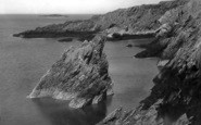 Amlwch, The Cliffs c.1935
