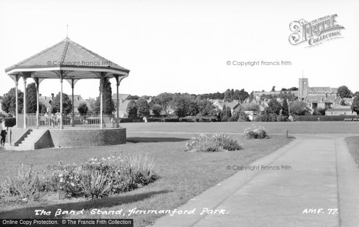 Photo of Ammanford, Park, Bandstand c.1965