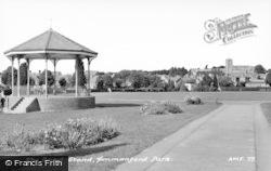 Ammanford, Park, Bandstand c.1965