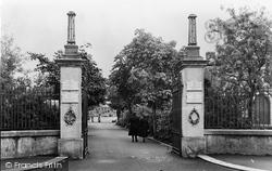 Ammanford, The Park Memorial Gates And Avenue c.1955