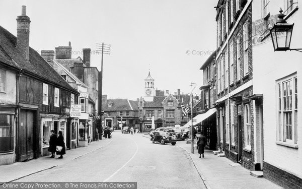 Photo of Ampthill, Market Place c1955, ref. A158013