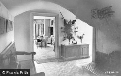 Amroth, Castle, Entrance Hall c.1955