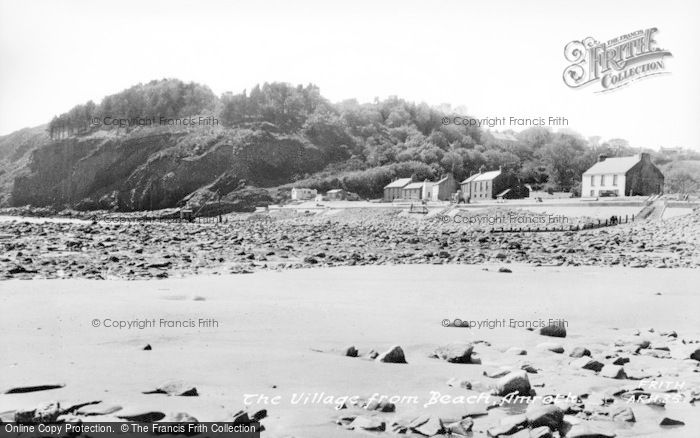 Photo of Amroth, Village From The Beach c.1955