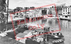 Amstel With Meagre Bridge c.1950, Amsterdam