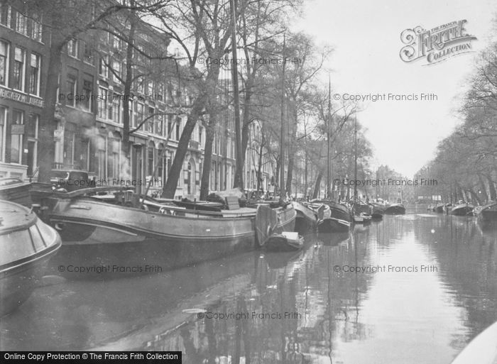 Photo of Amsterdam, Barges On A Canal c.1938