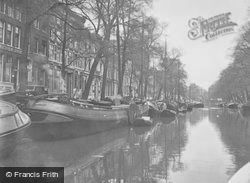 Barges On A Canal c.1938, Amsterdam
