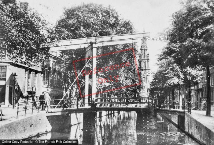 Photo of Amsterdam, Groenburgwal Drawbridge And Zuiderkerk Tower c.1920