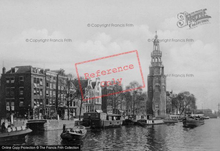Photo of Amsterdam, Montelbaanstoren And Oude Schans Canal c.1920