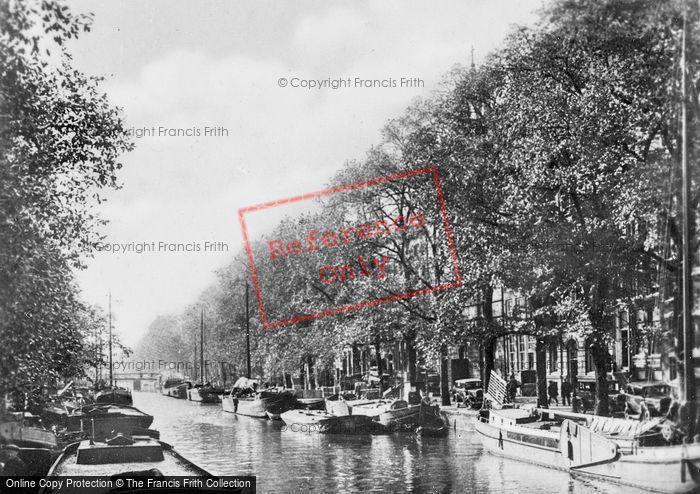 Photo of Amsterdam, Prinsengracht At Brouwersgracht c.1920