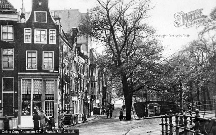 Photo of Amsterdam, Reiguliersgracht Corner Across Keizersgracht c.1920