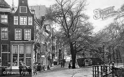 Reiguliersgracht Corner Across Keizersgracht c.1920, Amsterdam