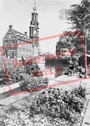 Singel With Mint Tower And Flower Market c.1950, Amsterdam
