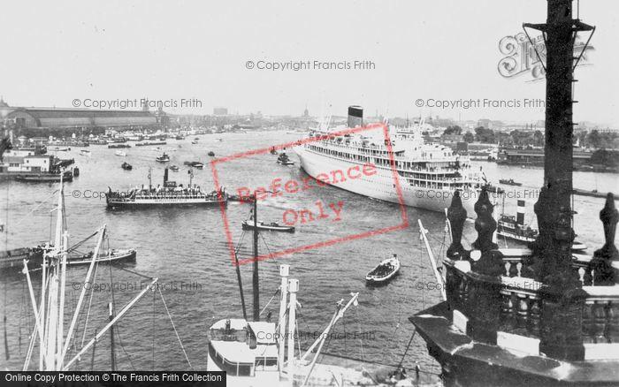 Photo of Amsterdam, The Ij With M.S. 'oranje' c.1950