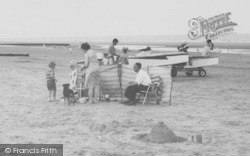 Family On The Beach c.1960, Anderby Creek