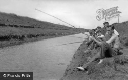 Anderby Creek, Fishing in the Creek c1955