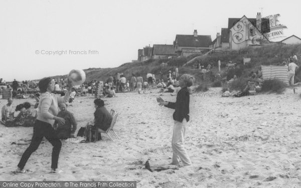 Photo of Anderby Creek, Playing Beach Ball, The Beach c.1965