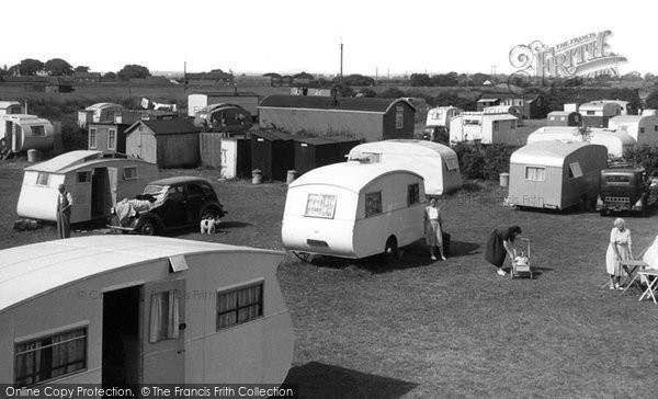 Anderby Creek, Rose's Caravan Camp c.1955