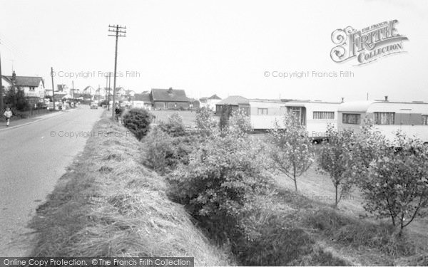 Photo of Anderby Creek, Rose's Site And Main Road c.1960