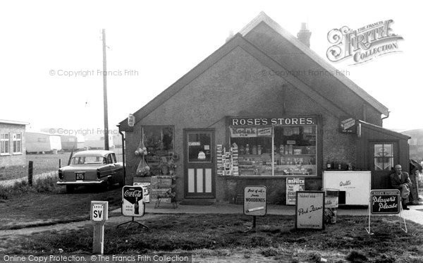 Photo of Anderby Creek, Rose's Stores c.1960
