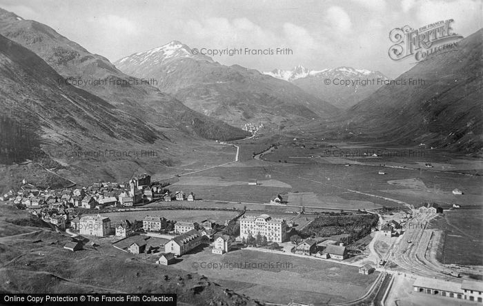 Photo of Andermatt, The Village c.1935