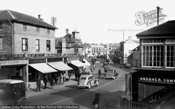 Andover, Bridge Street From Level Crossing 1939