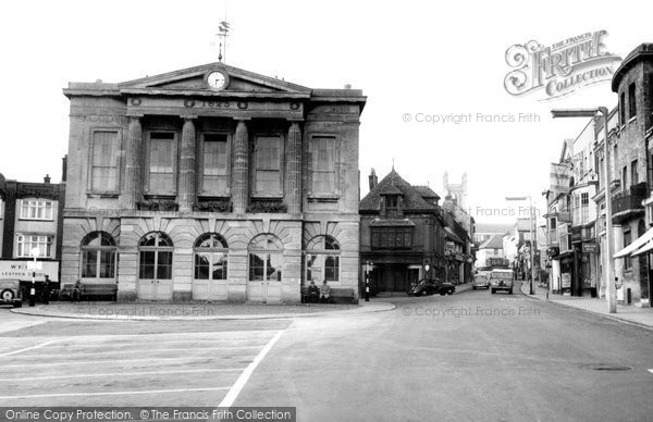 Photo of Andover, Guildhall And High Street c.1960